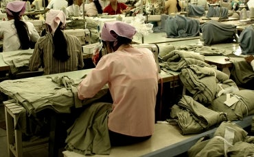 worker in garment factory