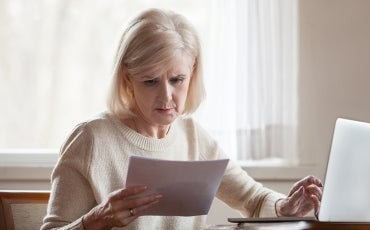 older lady worried about bills