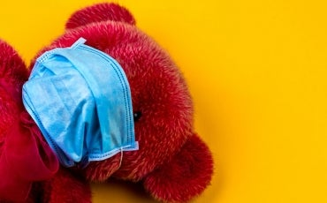 Teddy Bear with medical mask