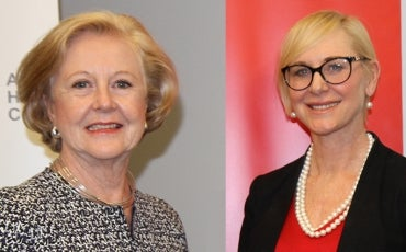 Photo: Prof. Gillian Triggs President Australian Human Rights Commission, Joanne Beckett LexisNexis Managing Director