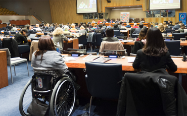 UN conference of states parties - participating delegate with disability