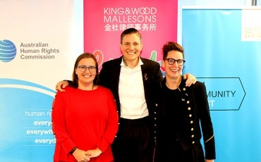 Casey Legler with Kate Jenkins and KWM spokesperson