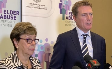 Dr Kay Patterson and Attorney-General the Hon Christian Porter