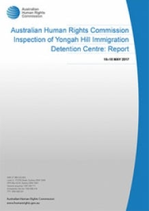 Report cover - Yongah Hill Immigration Detention Centre Inspection Report