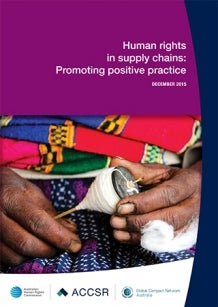 Cover of Human Rights in Supply Chains 2015