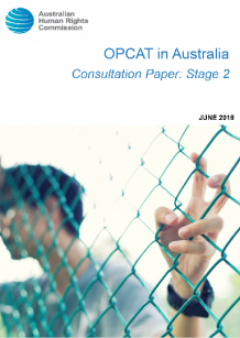 man behind chain fence. OPCAT in Australia Stage 2 consultation paper