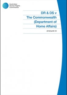 Cover of DR & DS v The Commonwealth
