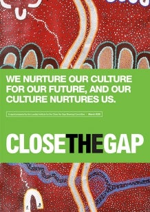 Aboriginal Art - Cover of the 2020 Close the Gap report