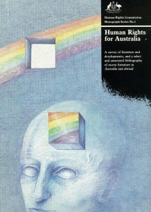 Cover of 1986 report, rainbow with a head