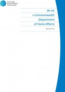 Mr AC v Commonwealth of Australia (Department of Home Affairs)