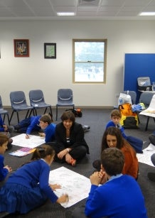 Students at Sacred Heart Primary in Perth WA