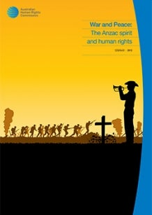 Cover of 'War and Peace: The ANZAC spirt and human rights