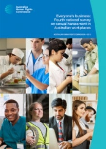 Collage of workers in Australian industries, from cooks to builders and scientists