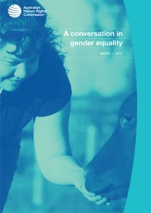 Cover of A Conversation in gender equality (2017)