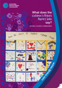 What does the Children's Rights Report 2014 say - cover photo of quilt by young people