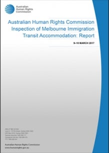 Cover of 2017 report on Melbourne Immigration Transit Accommodation (MITA)