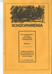 Cover of Schizophrenia and Human Rights (1989)