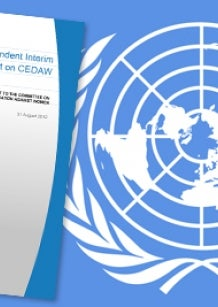 CEDAW interim report 2012