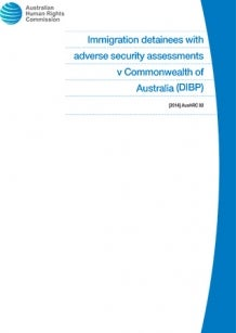 Cover - Immigration detainees with adverse security assessments v Commonwealth of Australia (DIBP)