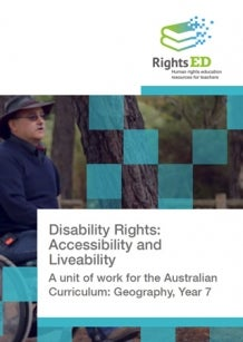 RightsEd: Disability Rights: Accessibility and Liveability