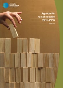 Cover Image - Agenda for racial equality 2012-2016