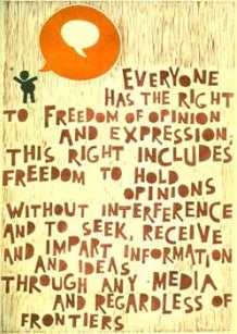 UDHR poster freedom of expression