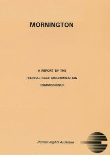 Cover of 1993 Mornington Report