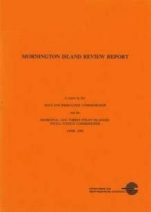 Cover of 1995 Mornington Island Report
