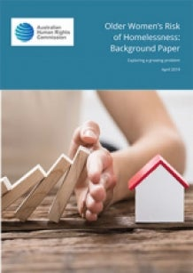 Older Women's Risk of Homelessness - discussion paper