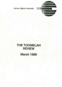 Cover of the Toomelah Review 1989