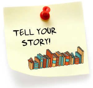 Tell your story! on stickynote